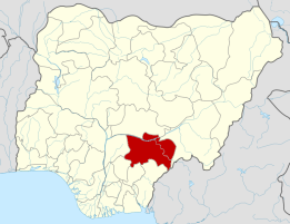 Map of Nigeria showing Gwer West Local Government Area